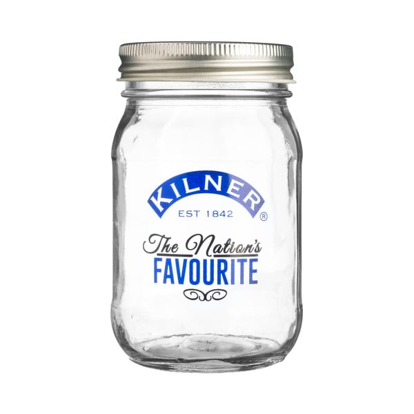 Borcan cu capac filetat Kilner National Blue, 0,4 l