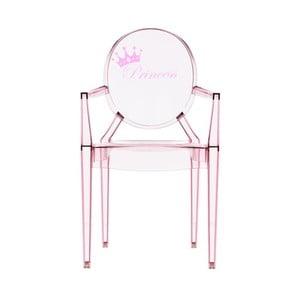 Dětská transparentní židle Kartell Lou Lou Ghost Crown
