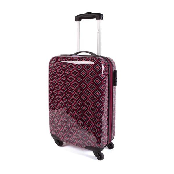 Černo-růžový cestovní kufr SKPA-T