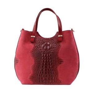 Červená kožená kabelka Ore Diece Piper