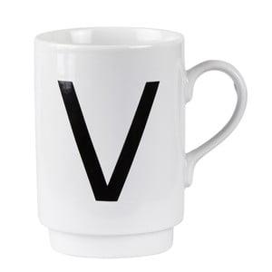 Porcelánový písmenkový hrnek V