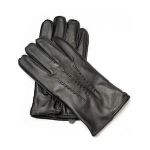 Pánské černé kožené rukavice <br>Pride & Dignity Gates, vel. XL