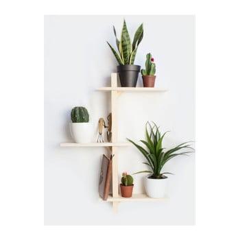 Raft de perete din lemn de brad pentru ghivece Really Nice Things Natural poza