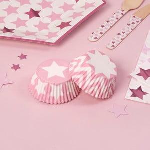 Sada 100 papírových košíčků na muffiny Neviti Little Star Pink