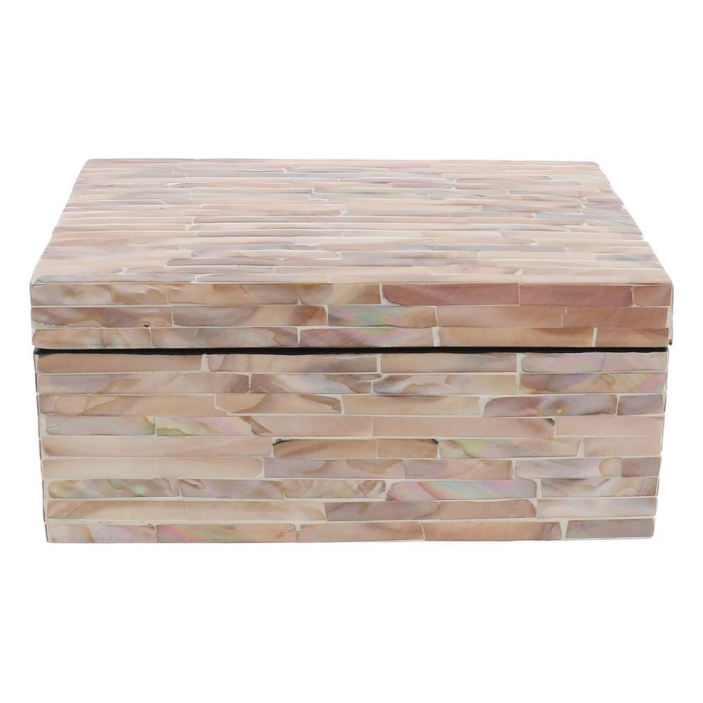 Růžový úložný box Compactor Haiphong Box