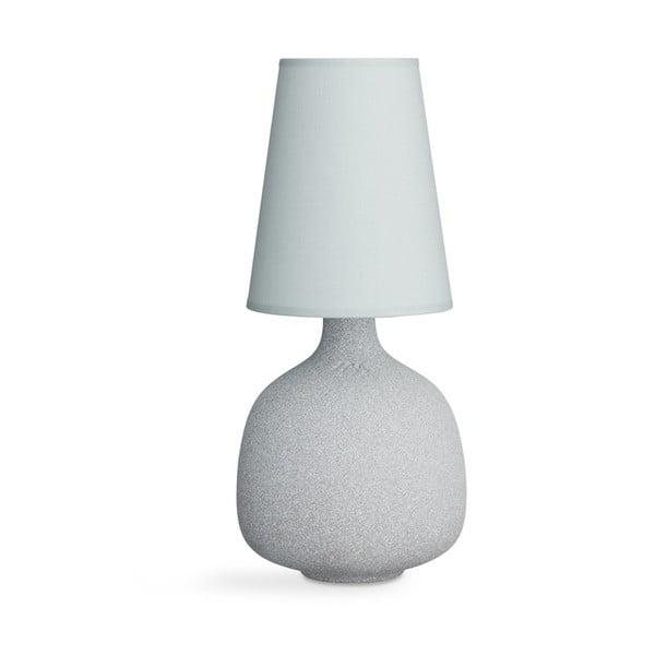 Světle modrá kameninová stolní lampa Kähler Design Balustre