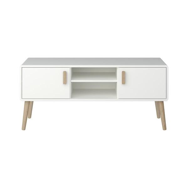 Masă TV Steens Pavona, 55,6 x 125,2 cm, alb