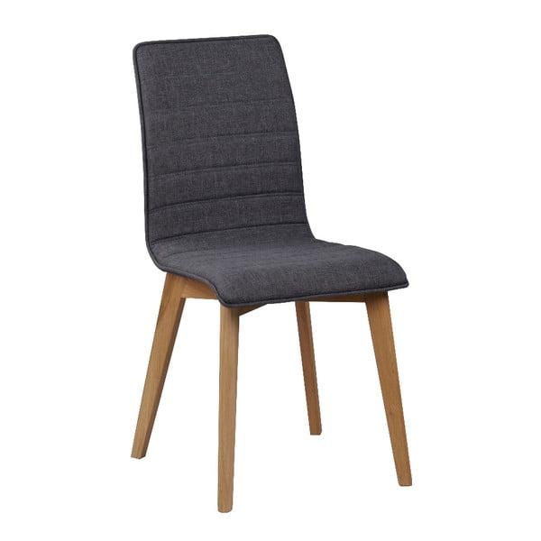 Tmavě šedá jídelní židle s hnědými nohami Rowico Grace