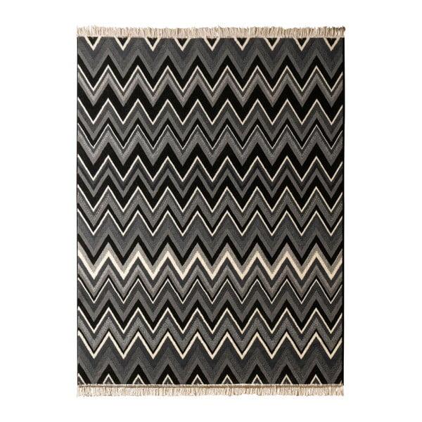 Koberec Hanse Home Fringe Black, 120 x 170 cm