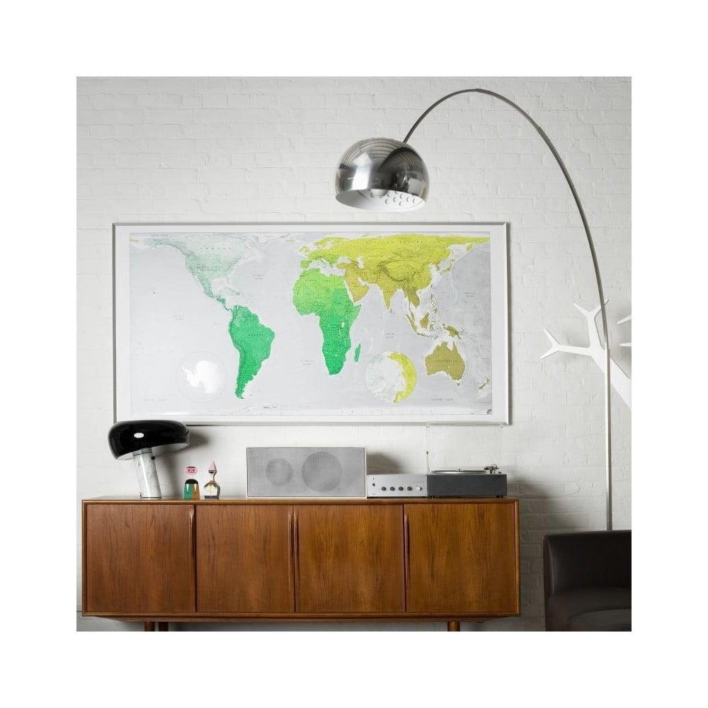 Zelená mapa světa Huge Future Map, 196 x 100 cm