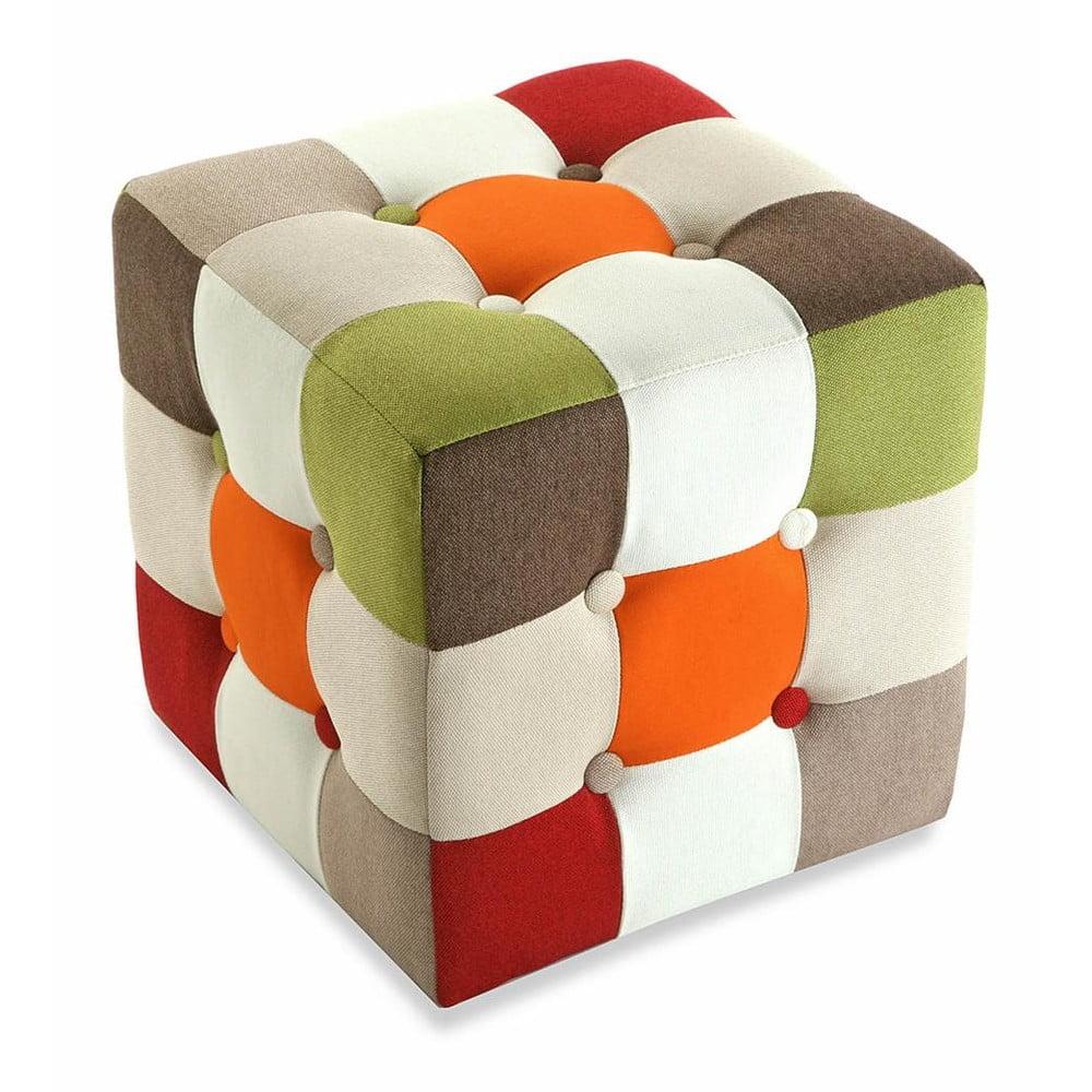 Puf na sezení Versa Red Cube