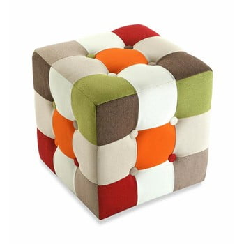 Taburet din bumbac Versa Red Cube imagine