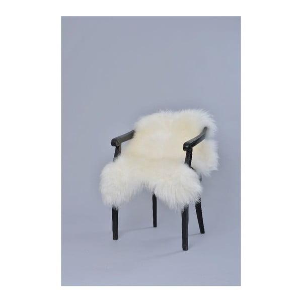 Ovčí kožešina s dlouhým chlupem White, 100x60 cm