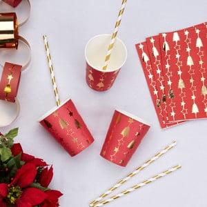 Set 8 pahare din hârtie Neviti Dazzling Christmas