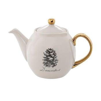 Ceainic din gresie ceramică Bloomingville Maria December, 1,2 l, alb imagine