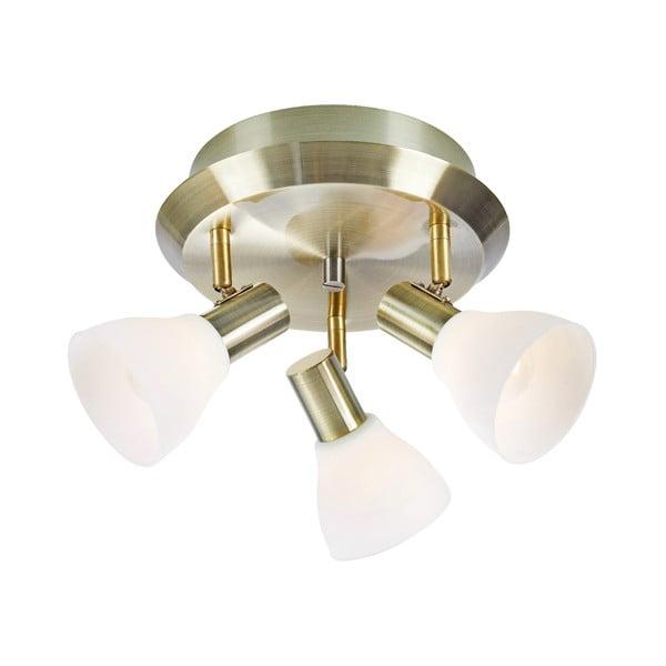 Stropné svietidlo v bielej-zlatej farbe Markslöjd vro, ø 33 cm