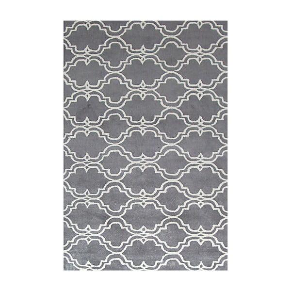 Ručně tuftovaný šedý koberec Bakero Riviera, 122x183cm