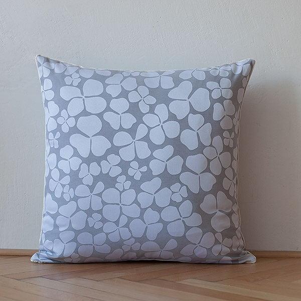 Polštář s výplní Light Grey Flowers, 50x50 cm