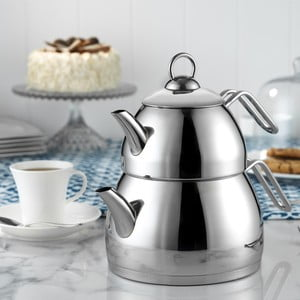 Ceainic dublu din oțel inoxidabil Kutahya Tea Time