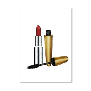 Poster Americanflat Lipstick and Mascara, 30 x 42 cm