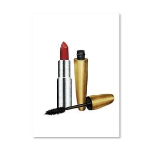 Plakát Americanflat Lipstick and Mascara, 30x42cm