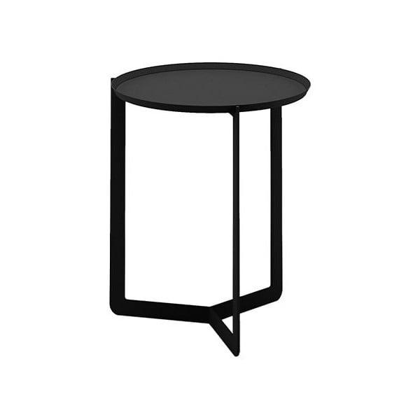 Černý příruční stolek MEME Design Round, Ø40cm