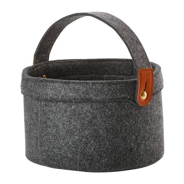 Tmavě šedý filcový košík Zone Classy