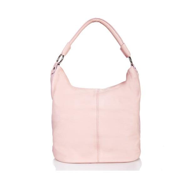 Růžová kožená kabelka Massimo Castelli Norvala