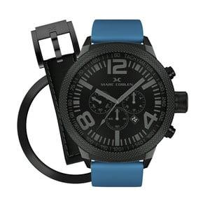 Pánské hodinky Marc Coblen s páskem a kroužkem navíc P52