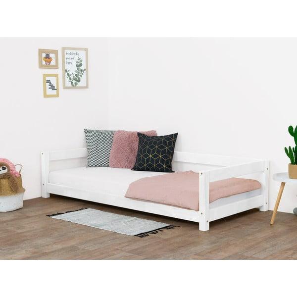 Bílá dětská dřevěná postel Benlemi Study,80x160cm