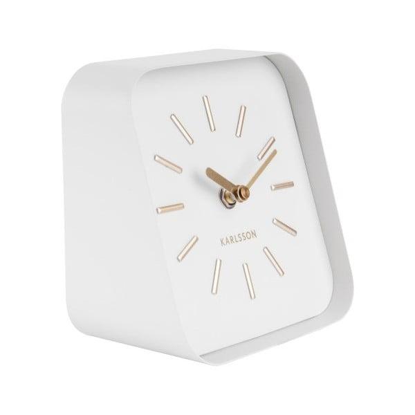 Squared fehér fém asztali óra - Karlsson