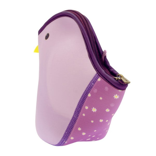 Fialová neoprenová taška ve tvaru ptáčka Santoro London
