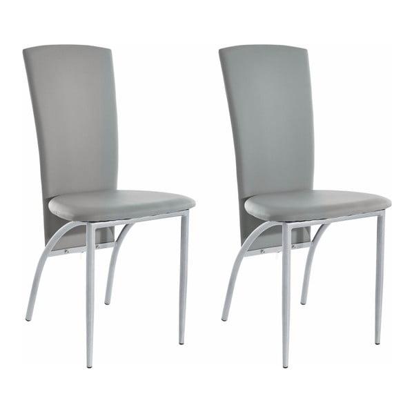 Zestaw 2 szarych krzeseł Støraa Nevada