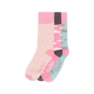 Sada 3 párů barevných ponožek Funky Steps Lilian, vel. 35-39