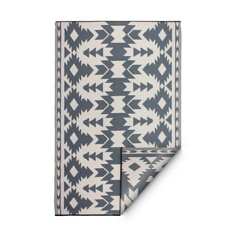 Covor reversibil potrivit pentru exterior, din plastic reciclat Fab Hab Miramar Gray, 150 x 240 cm, gri