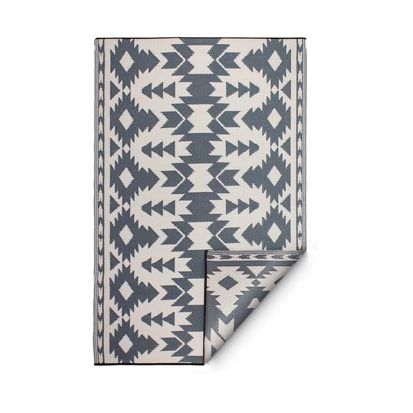 Szary dwustronny dywan na zewnątrz z tworzywa sztucznego z recyklingu Fab Hab Miramar Gray, 150x240 cm