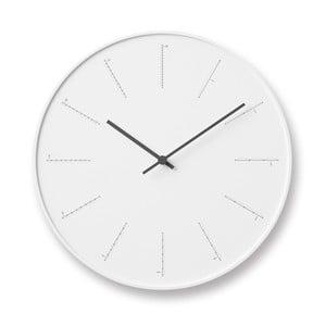 Bílé nástěnné hodiny Lemnos Clock Divide,⌀29cm