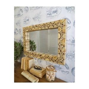 Zrcadlo z teakového dřeva Orchidea Milano Juan, ⌀ 75 cm