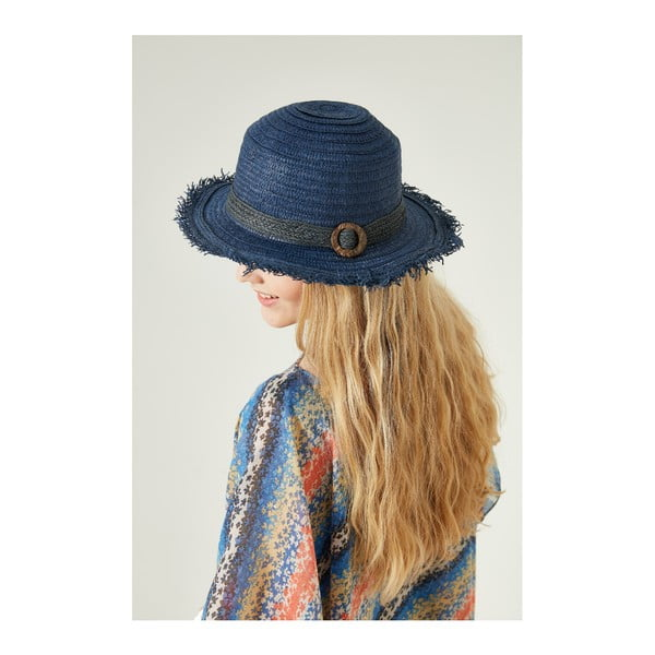 Tmavomodrý dámsky slamený klobouk Alexander McKensey Bubble