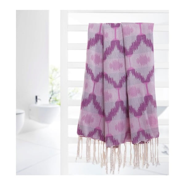 Prosop hammam Ripple Purple, 95x180 cm