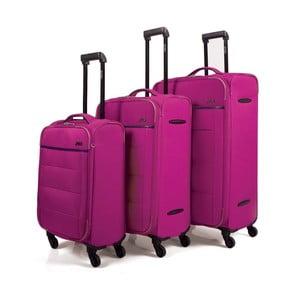 Set 3 geamantane cu roți Arsamar Davis, roz
