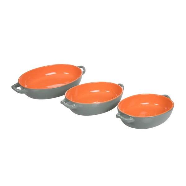 Sada 3 zapékacích misek Roma Orange