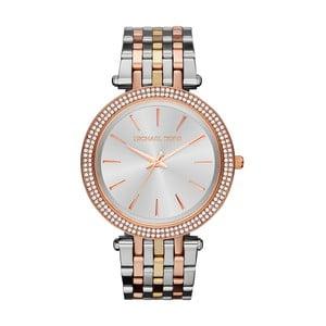 Dámské hodinky ve stříbrné barvě s detaily v barvě růžového zlata Michael Kors Darci