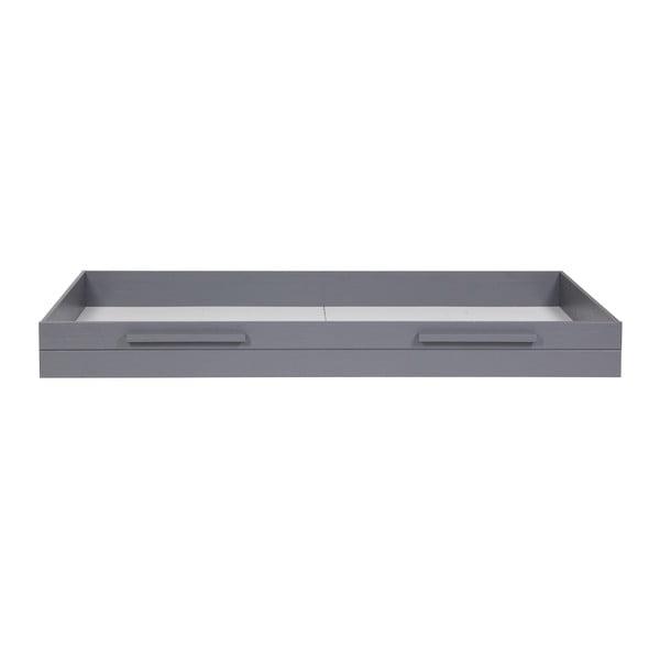 Ocelově šedá spodní zásuvka pro postel De Eekhoorn Dennis, 90x200cm