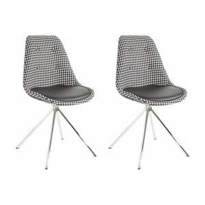 Sada 2 černobílých jídelních židlí Støraa Dylan