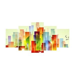 Vícedílný obraz La Maison Des Couleurs City