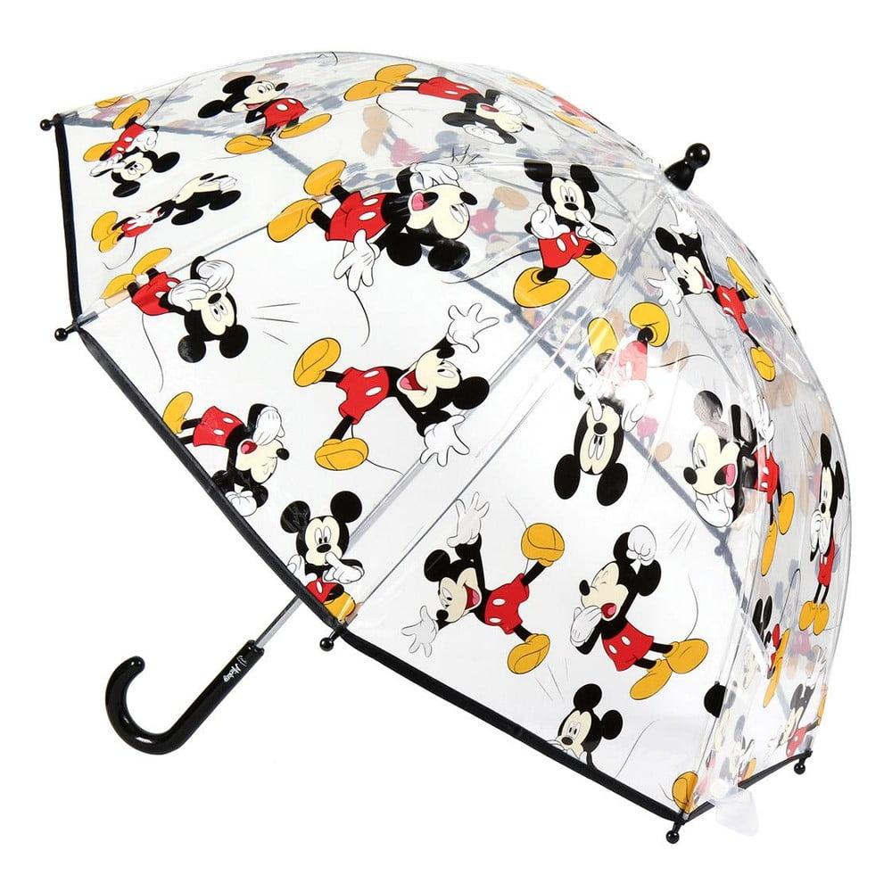 Transparentní dětský deštník Ambiance Mickey, ⌀71cm