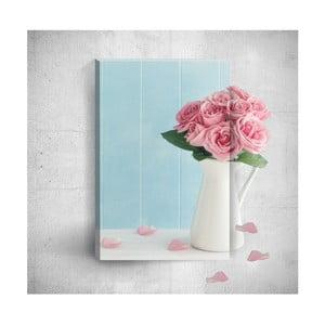 Nástěnný 3D obraz Mosticx Pink Roses, 40 x 60 cm