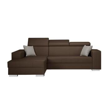Canapea cu șezlong partea stângă Interieur De Famille Paris Tresor maro deschis