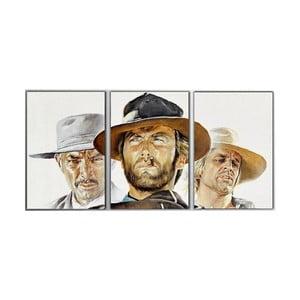 3dílný obraz Clint, 45x90 cm
